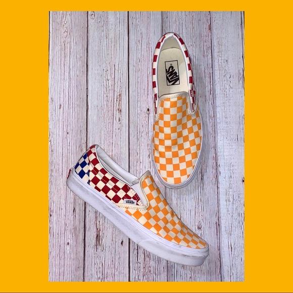 Slipon Colorblock Checkerboard Skate